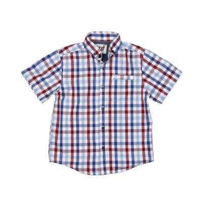 Kék-bordó kockás ing (110)