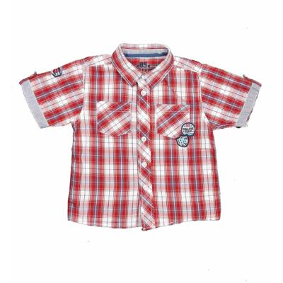Piros-szürke kockás ing (86)