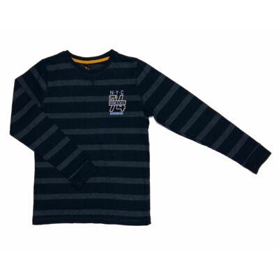 Kék-szürke csíkos póló (146)