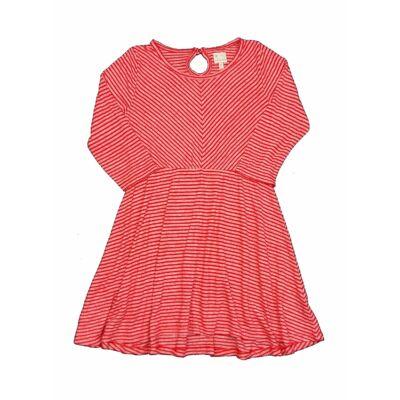 Piros csíkos ruha (140)
