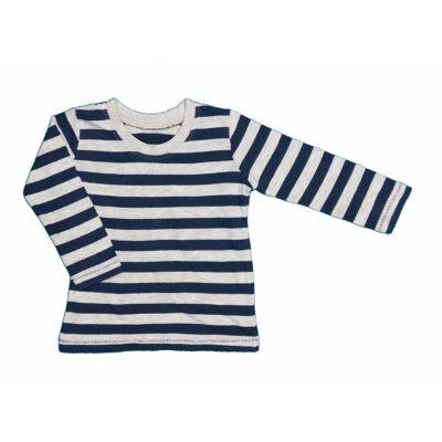 Kék-szürke csíkos póló (86)