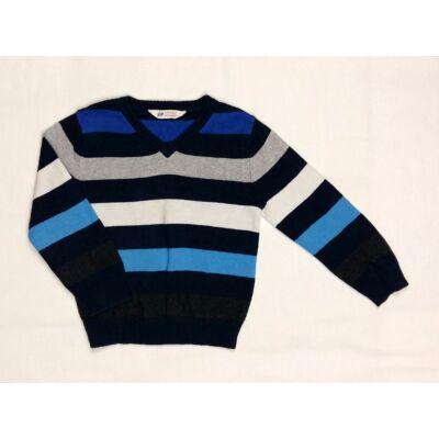 Kék-szürke csíkos pulcsi (104)
