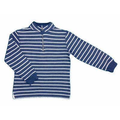 Kék csíkos zipes pulcsi (128)