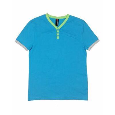 Kék-zöld gombos póló (152)