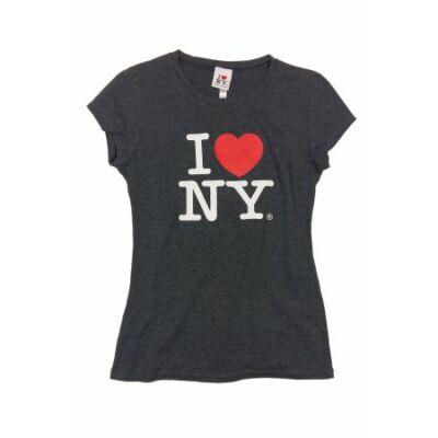 Szürke I love NY póló (L)