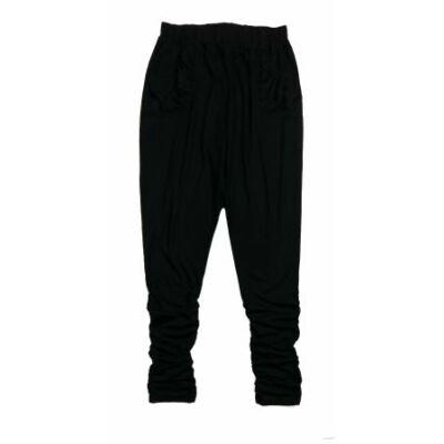 Fekete húzott szárú nadrág (L)