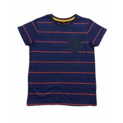 Kék-narancs csíkos póló (128)