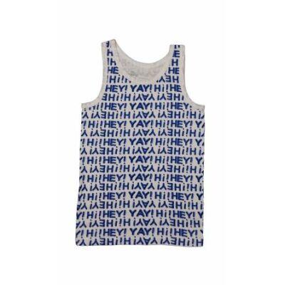 Kék írásos trikó (152)