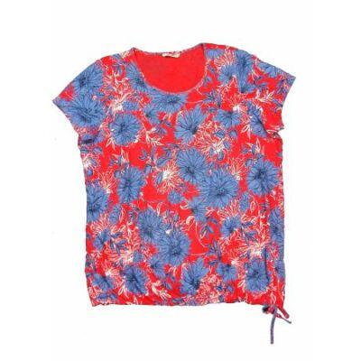 Piros-kék virágos póló (48)