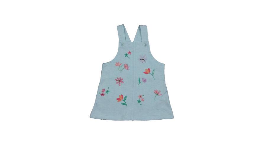 56e86ed234 Világoskék virágos ruha (80) - 80-86 (9-18 hónap) - Minőségi angol használt  és új gyerekruhák