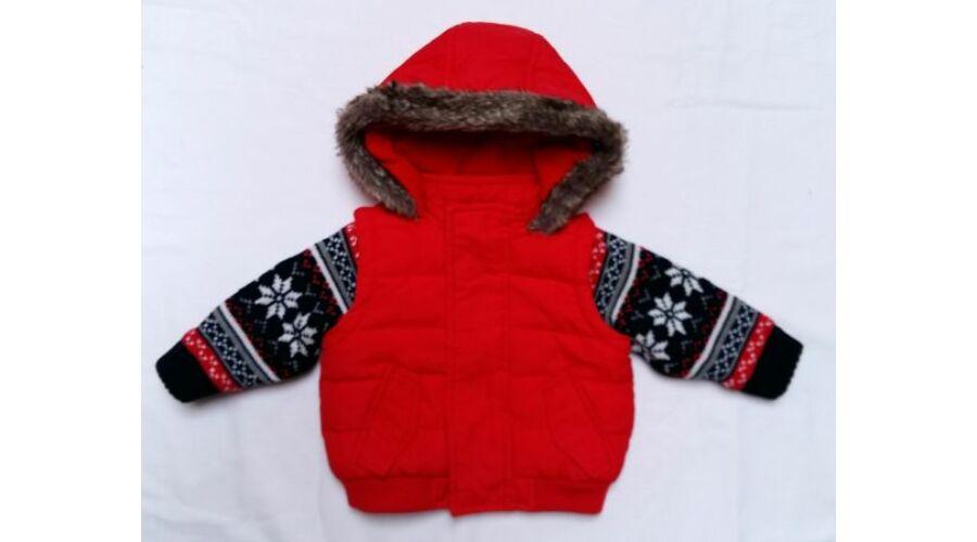 fbb24d31fd Piros kötött ujjas kabát (62) - 56-62 (0-3 hónap) - Minőségi angol használt  és új gyerekruhák