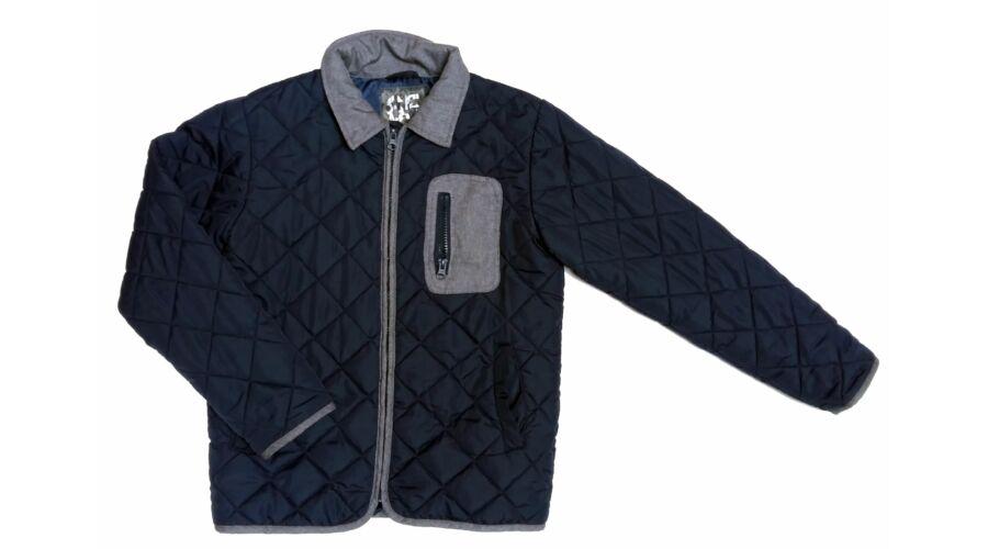 Kék-szürke steppelt átmeneti kabát (152) - 140 és nagyobb (9 év és nagyobb)  - Minőségi angol használt és új gyerekruhák 156f0c491d