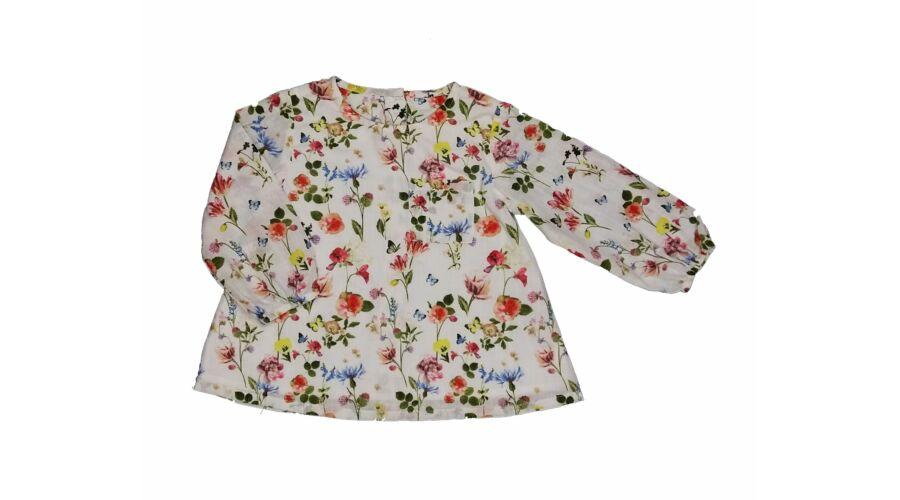 b029a4f6d5 Virágos tunika (80) - 80-86 (9-18 hónap) - Minőségi angol használt és új  gyerekruhák