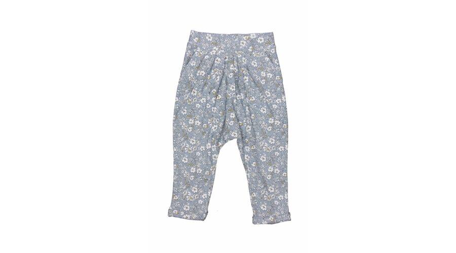 545965957e Szürke virágos nadrág (86) - 80-86 (9-18 hónap) - Minőségi angol használt  és új gyerekruhák