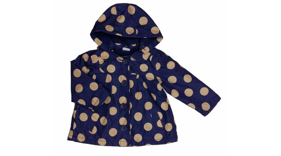 ad81ee82e9 Kék-drapp pöttyös átmeneti kabát (92) - 92-98 (1,5-3 év) - Minőségi angol  használt és új gyerekruhák