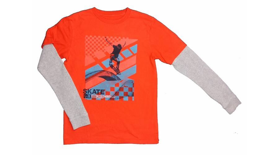 2011cb448f Narancs Skate póló (164) - 140 és nagyobb (9 év és nagyobb) - Minőségi  angol használt és új gyerekruhák