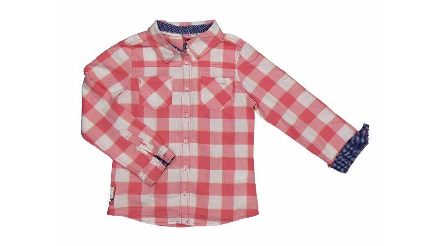 362bd40eef Rózsaszín kockás blúz (122) - 116-122 (5-7 év) - Minőségi angol használt és új  gyerekruhák