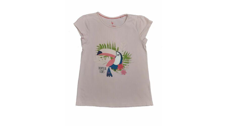 9c0508a490 Rózsaszín kakadus póló (116) - 116-122 (5-7 év) - Minőségi angol használt  és új gyerekruhák
