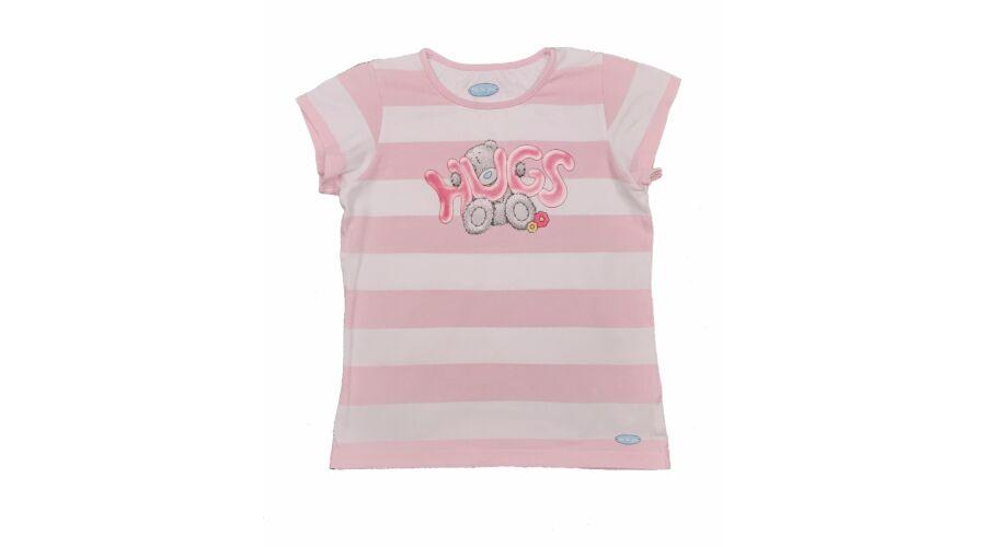 cf7b81fc82 Rózsaszin csíkos macis felső (140) - 140 és nagyobb (9 év és nagyobb) -  Minőségi angol használt és új gyerekruhák