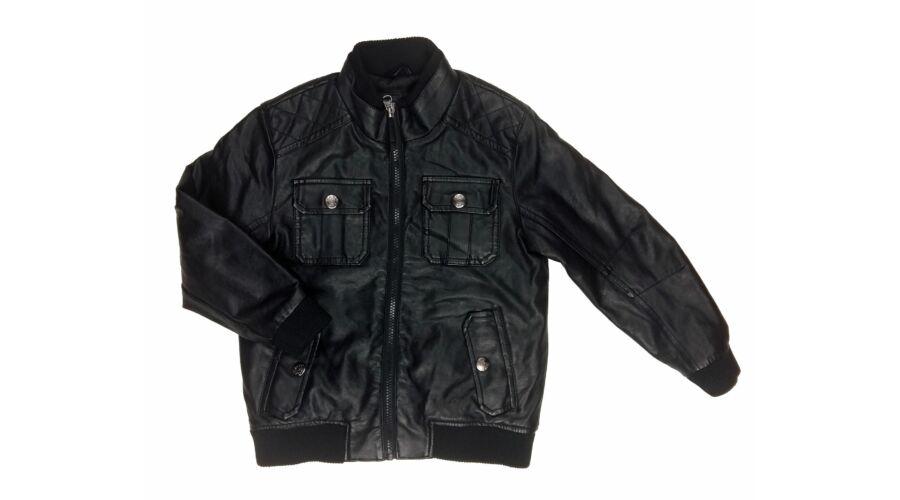 Fekete műbőr dzseki (122) - 116-122 (5-7 év) - Minőségi angol ... da6aa7e52a