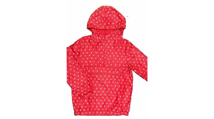 adecd02f5a Piros-pink pöttyös átmeneti dzseki (134) - 128-134 (7-9 év) - Minőségi  angol használt és új gyerekruhák