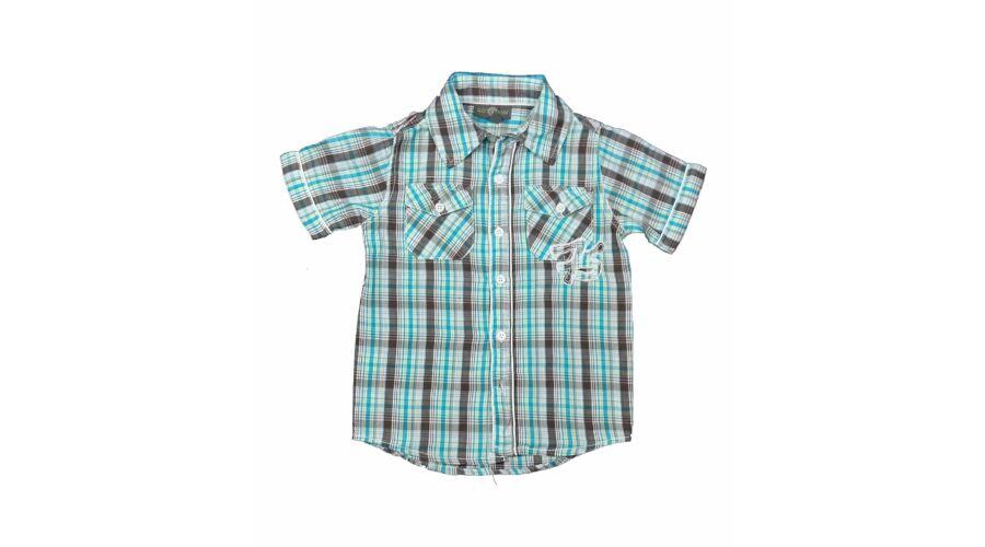 7166f9167b Türkiz kockás ing (104) - 104-110 (3-5 év) - Minőségi angol használt és új  gyerekruhák