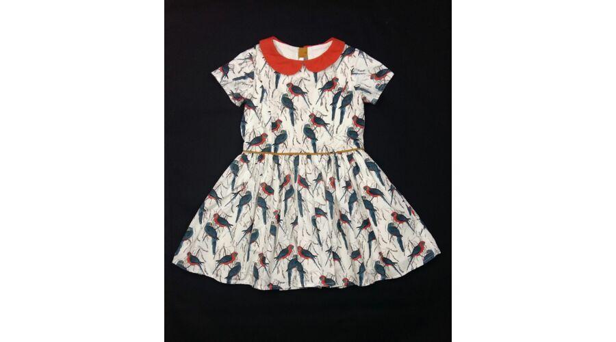 ea941a09d3 Kék madaras ruha (104) - 104-110 (3-5 év) - Minőségi angol használt és új  gyerekruhák