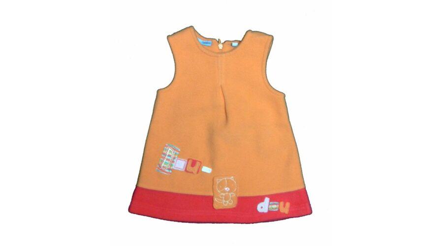Narancs cicás polárruha (62) - 56-62 (0-3 hónap) - Minőségi angol használt  és új gyerekruhák 71f5065680