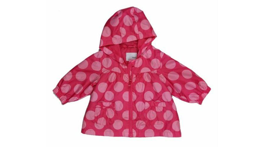 366d900ccb Pink pöttyös átmeneti kabát (74) - 68-74 (3-9 hónap) - Minőségi ...