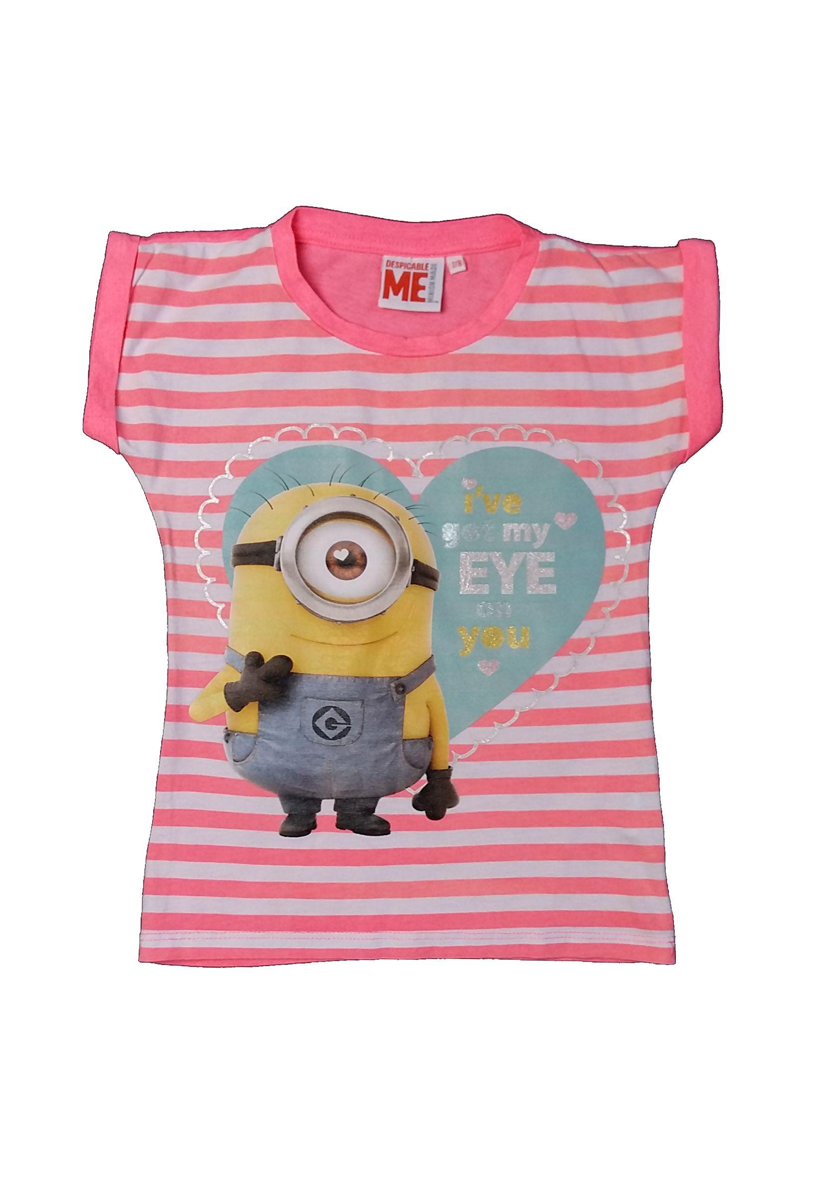 Neon csíkos Minion póló (128) - 128-134 (7-9 év) - Minőségi angol használt  és új gyerekruhák 5db8a720ef