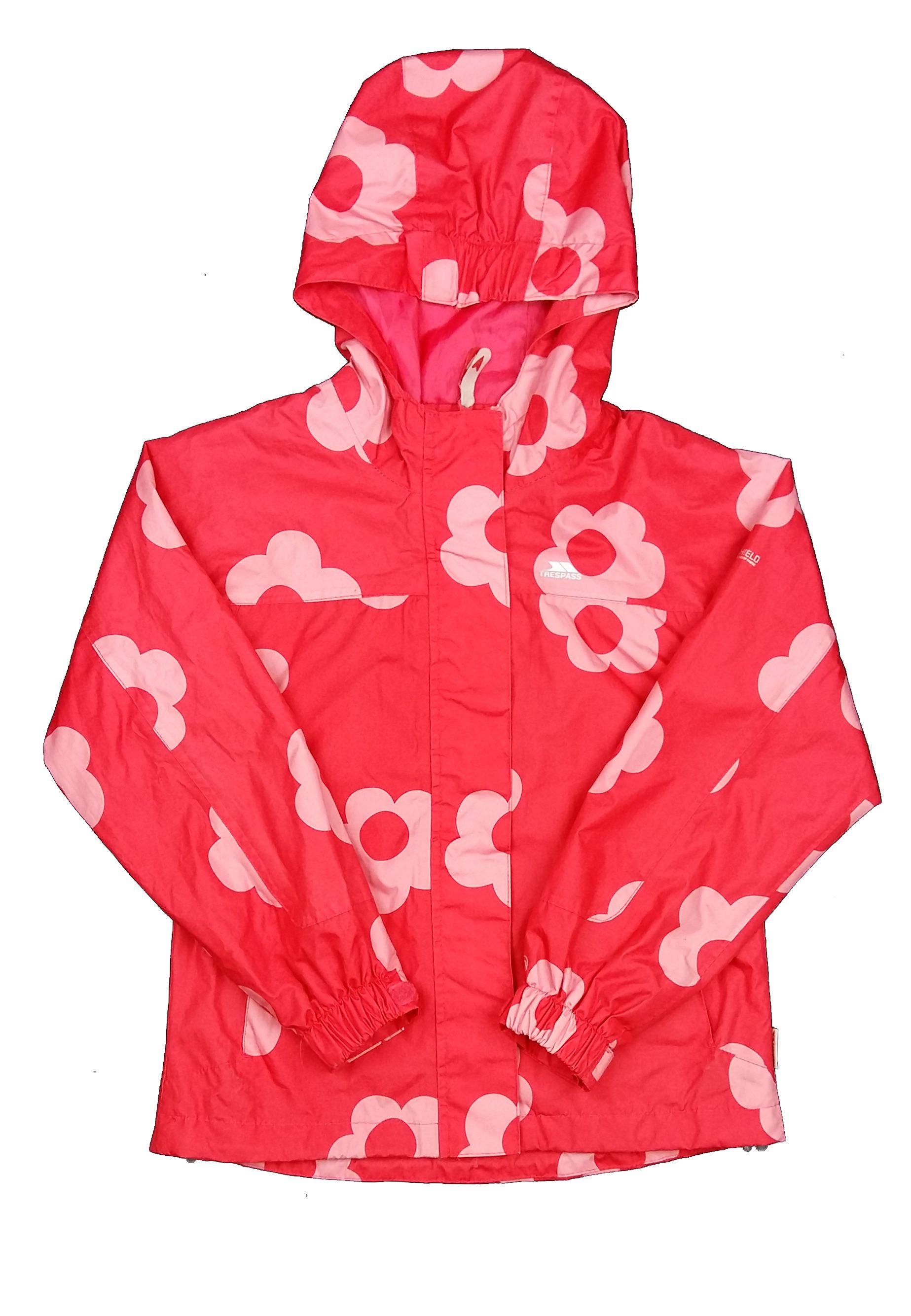 Piros virágos átmeneti kabát (134) - 128-134 (7-9 év) - Minőségi angol  használt és új gyerekruhák 8236df73c3