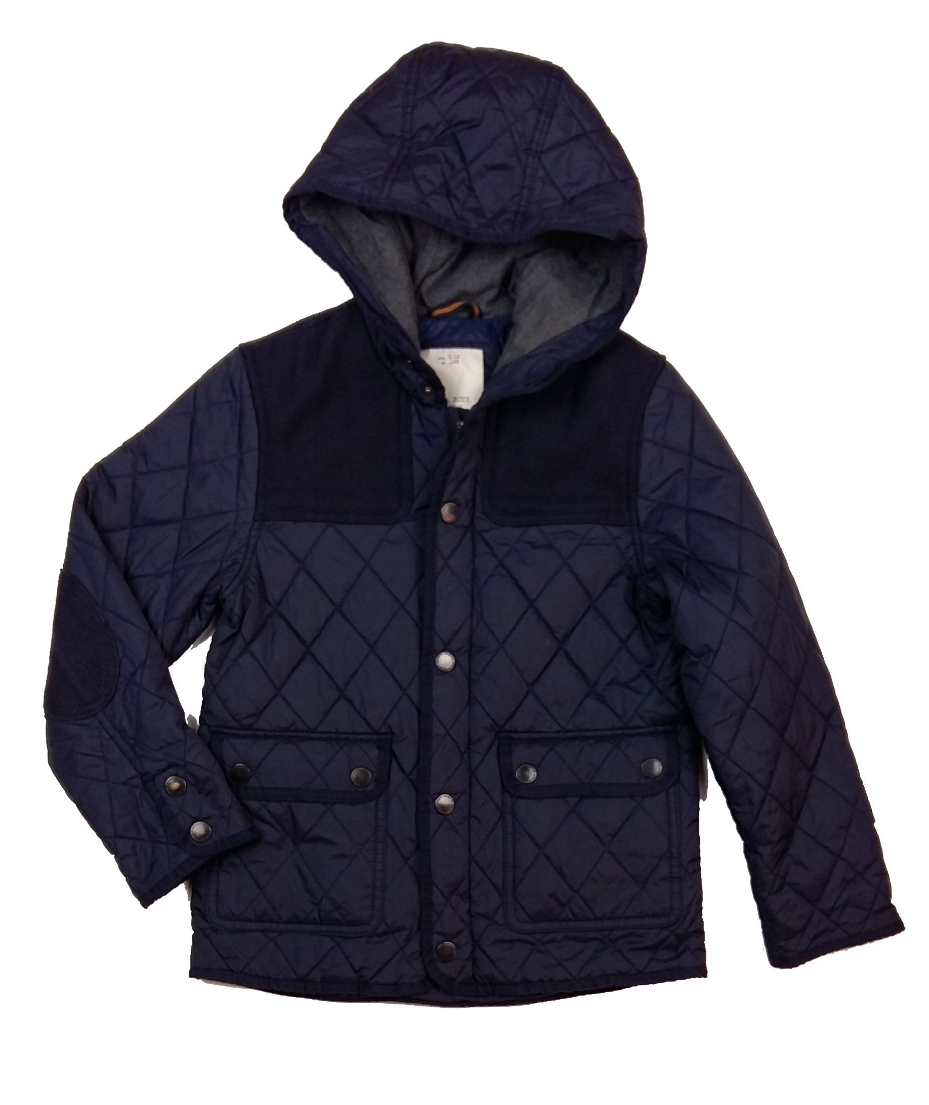 Sötétkék steppelt átmeneti kabát (140) - 140 és nagyobb (9 év és nagyobb) -  Minőségi angol használt és új gyerekruhák 5943d4ec2c