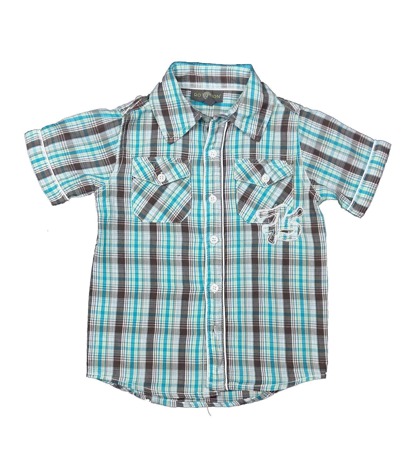 37d1807e18 Türkiz kockás ing (104) - 104-110 (3-5 év) - Minőségi angol használt és új  gyerekruhák